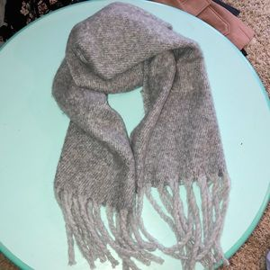 Urban Outfitters Grey Blanket Scarf